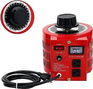 Beleeb 20Amp Variable Transformer Auto AC Voltage Regulator Power Supply, 2000VA Max, 0~130 Volt Output