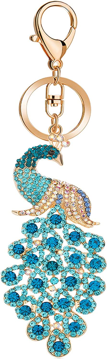 JOUDOO Peacock Keychain with Rhinestone for or Super sale Seasonal Wrap Introduction period limited GJ008 Bags Purse