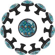Zeilpatroon, knoppen voor keukenkast kast kristal helder glas trekt 3,5 cm diameter met schroeven voor dressoir badkamer k...