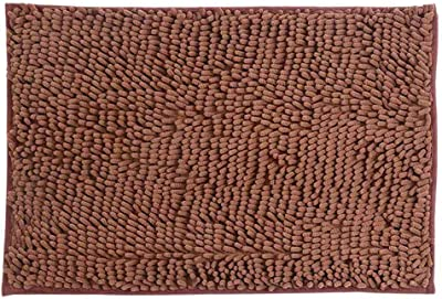xify's Non-Slip Bathroom Rug Shower Mat Machine-Washable Water Absorbent Soft Flannel, Brown