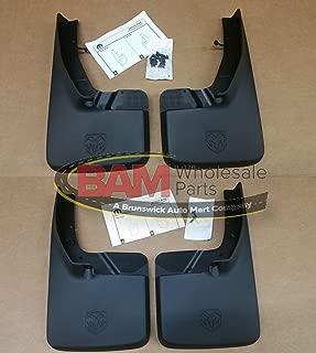 2015-2016 RAM 1500 Molded Mud Splash Guards For Trucks Without Fender Flares Front and Rear OEM Mopar Set of 4
