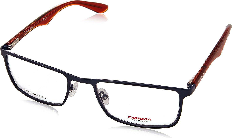 Carrera Montures de lunettes Ca6614 Muses Pour Homme Matte Black, 54mm Blu Dk Orange