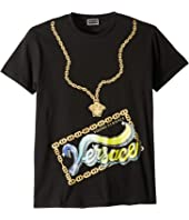 Versace Kids - Short Sleeve Medusa Necklace Graphic T-Shirt (Big Kids)