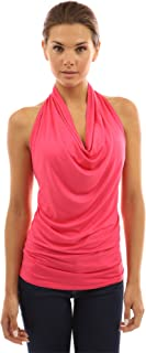 Women Halter Drape Cowl Neck Top