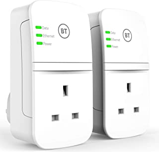BT Multiport Broadband Extender, Passthrough Powerline Adapter Broadband Extender Flex 600 Kit