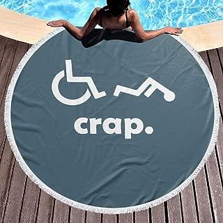 JML-LUV Wheelchair Thick Round Beach Towel Blanket Microfiber Yoga Mat with Tassels Ultra Soft Super Water Absorbent Multi-Purpose Towel