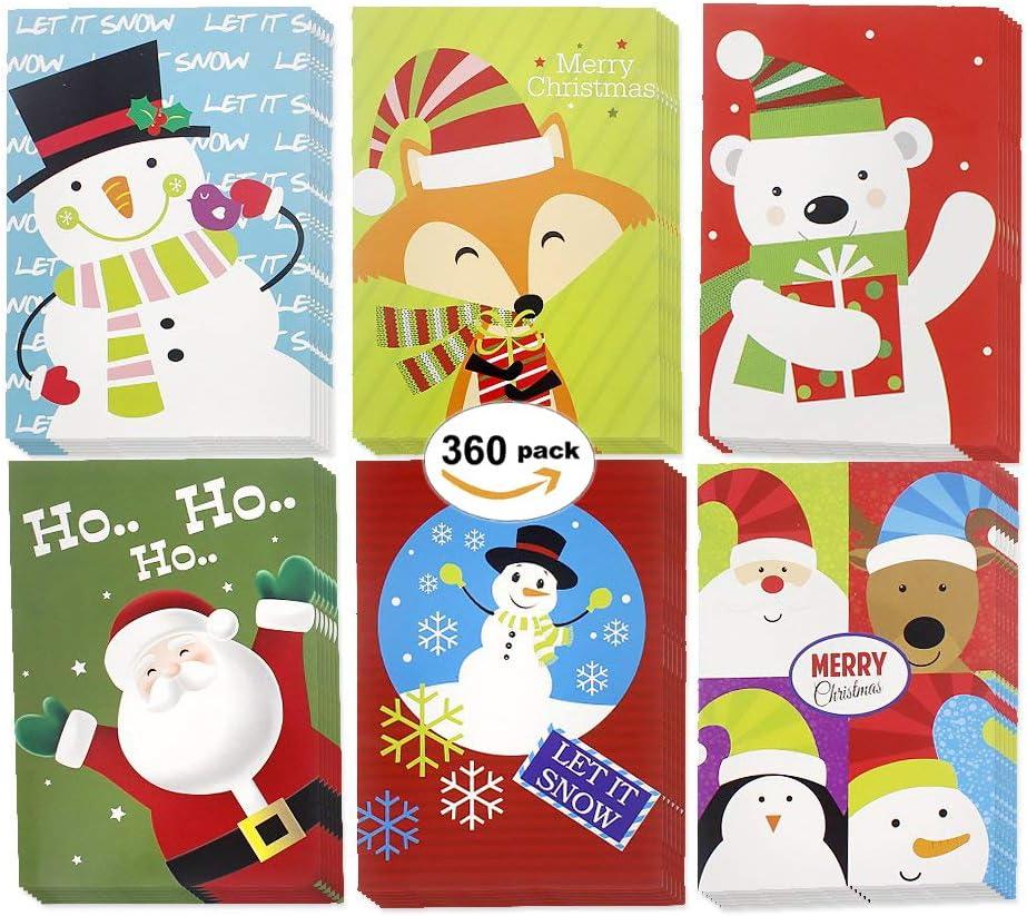 Set of 360 New Free Shipping Christmas Happy Holiday 6 Multicolor Sn Design Max 42% OFF Santa