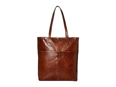 Frye Melissa Simple Zip Tote (Cognac) Handbags