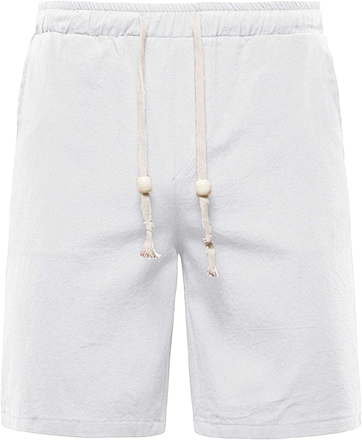 Shorts for Men F_Gotal High order Men's Casual Linen Solid Dra Opening large release sale Cotton