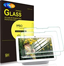 IVSO 2 Pack - Screen Protector for Google Nest Hub Max 10 Inch 2019,HD Full Screen Coverage No Bubble High Defitnition 9H Anti Fingerprint Tempered Glass