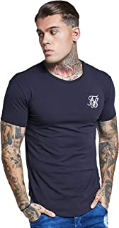 Modelo SS-10891, Hombre Hem curva Logo Gimnasio de la camiseta, Negro