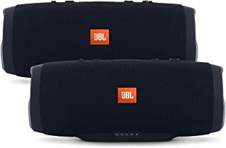 JBL Charge 3 Waterproof Portable Bluetooth Speaker - Pair (Black/Black)