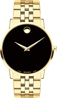 Men's Museum Yellow Pvd Case with a Black Dial on a Yellow Pvd Bracelet (Model:0607203)