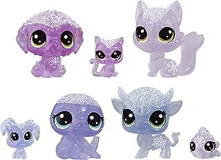 Littlest Pet Shop Frosted Wonderland Pet Friends Toy, Purple Theme, Includes 7 Pets, Ages 4 & Up
