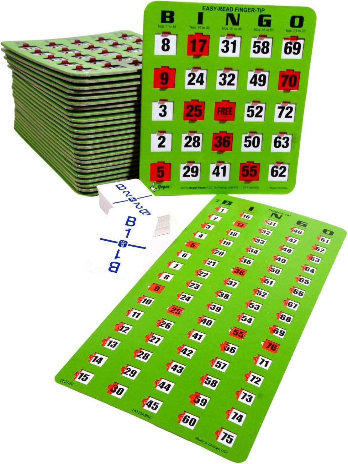 Regal Games Jumbo Finger-Tip Shutter Slide Card Set Bingo Free shipping on posting reviews with Kansas City Mall M