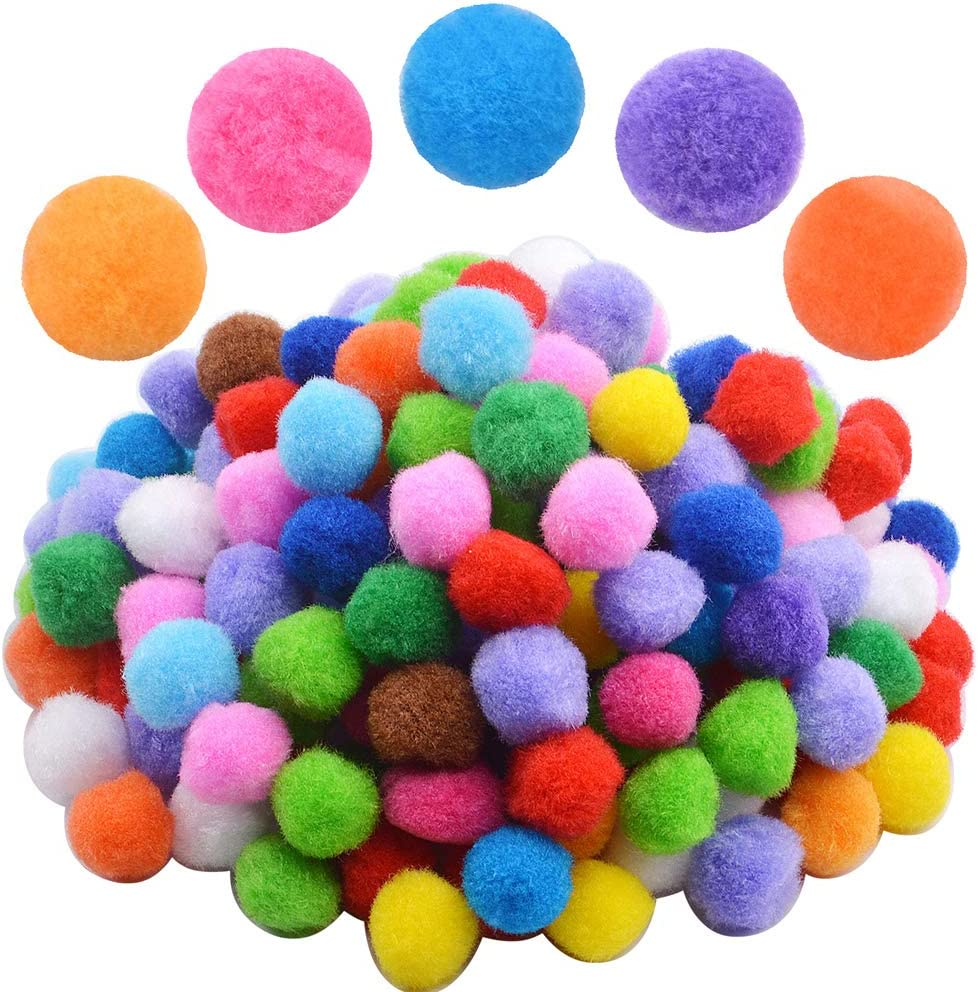 Bonayuanda 200 Pieces 1 2021 model Inch Pompoms Making and Craft for Hobby Rapid rise