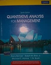 Quantitative Analysis for Management 10th edition