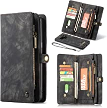 Galaxy Note 8 Case,Galaxy Note 8 Wallet Case, Esing Premium Folio Zipper Purse Leather Cover Cases for Samsung Galaxy Note 8 Detachable Magnetic Case with Flip Credit Card Slots Stand Holder (Black)