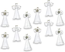 Fun Express Spun Glass Angel Ornaments with Star/Heart/Praying Hands (Set of 12) Christmas Religious Decor