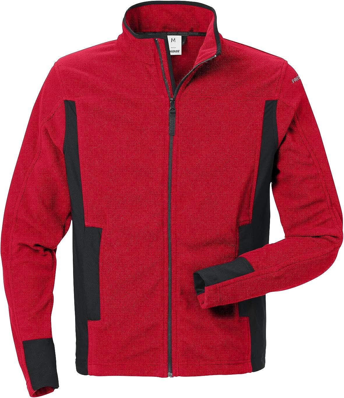Fristads Workwear 120966 Mens Micro Fleece Jacket Red-Black S