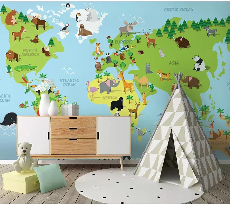 3D World Ranking TOP4 map Very popular Photo Cartoon Mural Wallpaper Children Suitable for
