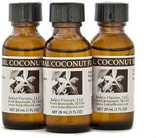 Bakto Flavors Natural Coconut Flavor (1 FL OZ) Pack of 3