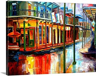 Downpour and Jackson Square Canvas Wall Art Print, 24