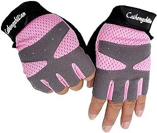 Summer Sports Fitness Gloves Women Gym Bodybuilding Weightlifting Dumbbells Yoga Training Sport E
