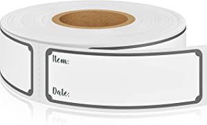 1 x 3 Inch Removable Freezer & Refrigerator Labels - No Residue Left - Waterproof & Oil Resistant - Great for Meal Prep, Breastmilk & Food Storage - Works on All Containers (Gray, Roll of 500)