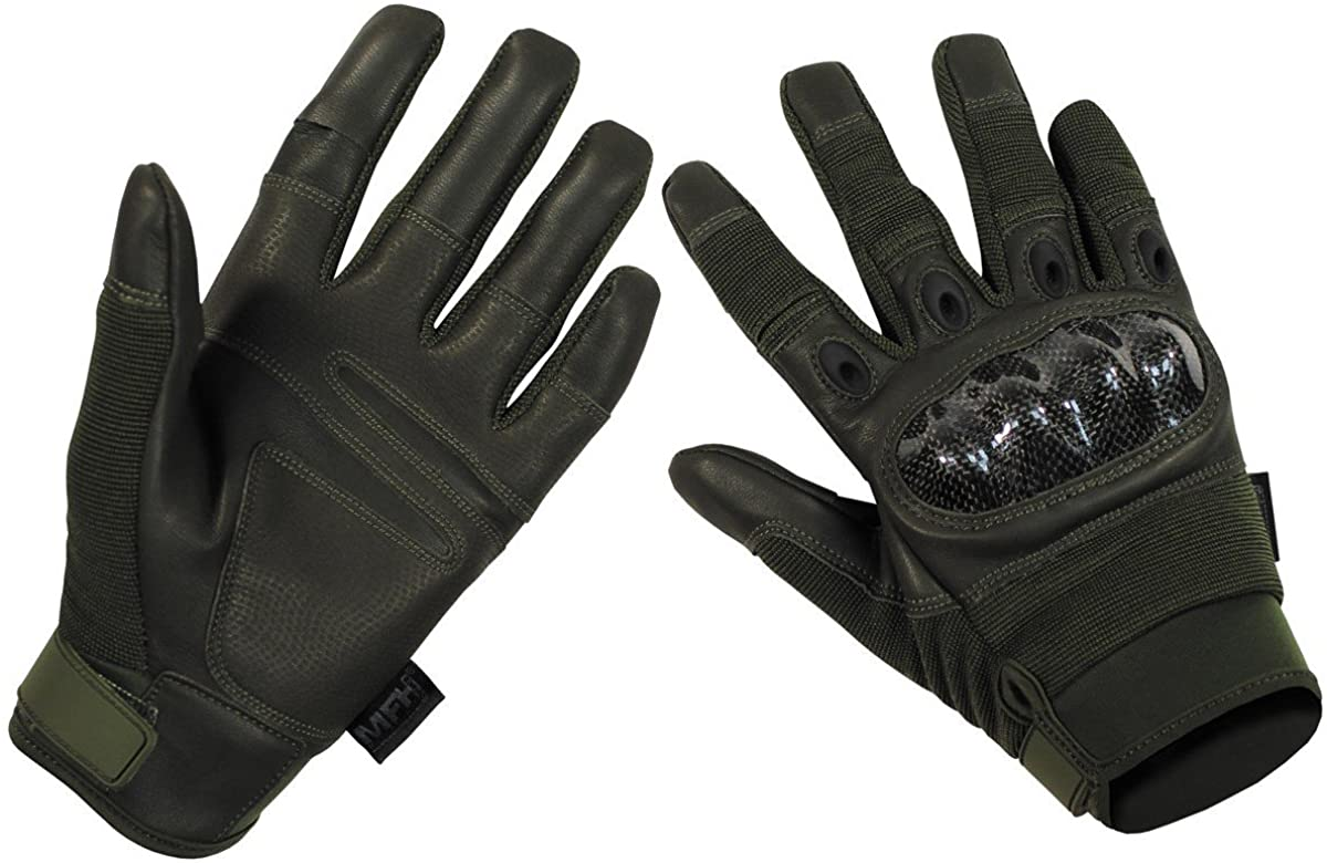 MFH Outstanding Mission Tactical Gloves Deluxe OD Green