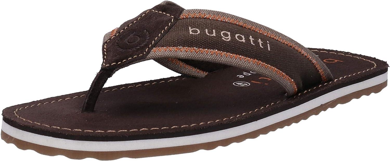 bugatti Men's Flip Flop high-Heeled Sandal, Brown Taupe, 11.5