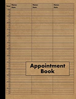 3 Column Appointment Book: Large Three Column Undated Appointment Planner - 120 Pages 15 Minute Increments - Notebook for Salon, Hair Stylist, Barber, Nail Salon, Hairdresser, Therapist and Business