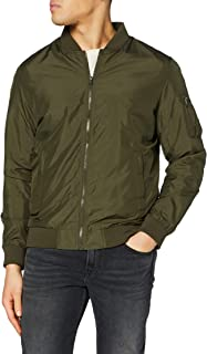URBAN CLASSICS Men's Light Bomber Jacket, Casual Flight Jacket with Fitted Waist and Cuffs, Longsleeve Jacket with Pockets...
