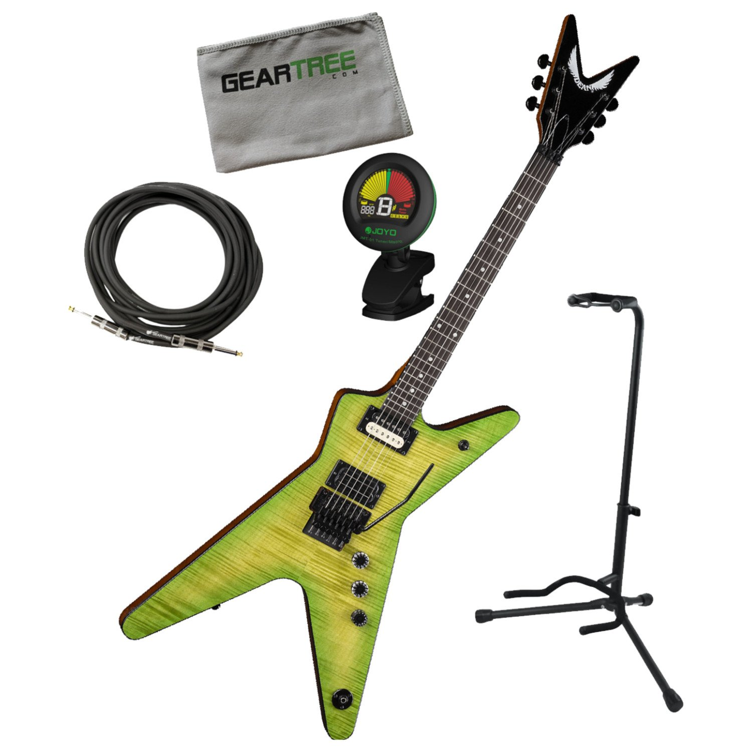 Cheap Dean DB DS Dimebag Dime Slime ML Electric Guitar w/Geartree Cloth Stand Tuner Black Friday & Cyber Monday 2019