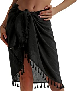 Beach Sarong Pareo Womens Semi-Sheer Swimwear Cover Ups...