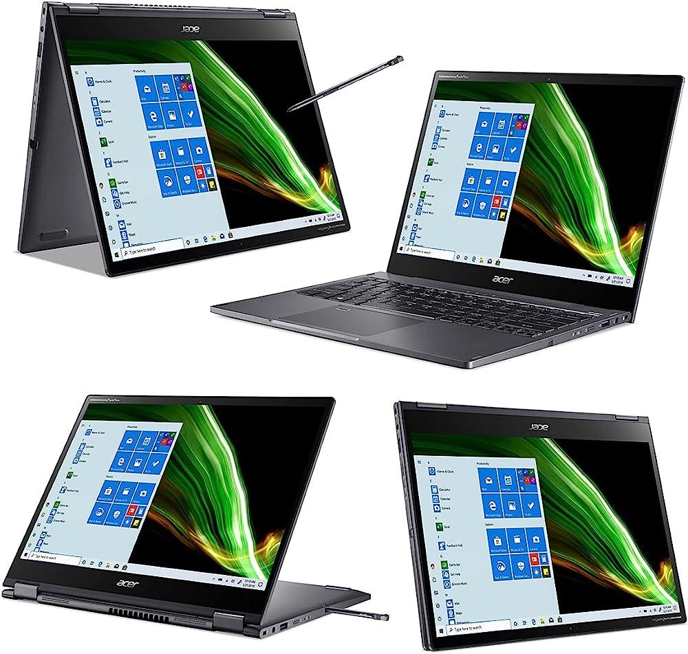 Acer spin 5 pc portatile touchscreen notebook intel core i5 ram 8 gb 512 gb pcie ssd grafica intel iris xe SP513-55N-57CG