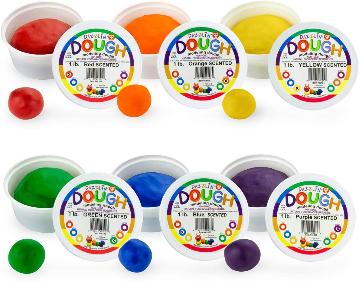 Hygloss Special sale item Products Kids gift Scented Dough Play Dazzling' Modeling