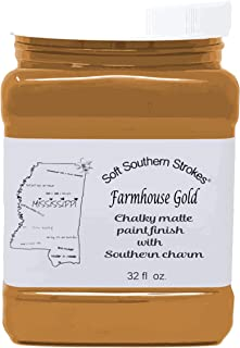 Chalk Matte Paint Finish Farmhouse Gold Quart