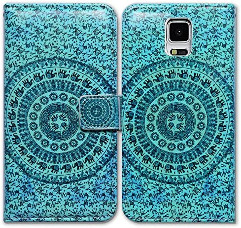 Bfun Packing Bcov Elephant Mandala Card Slot Wallet Leather Cover Case for Samsung Galaxy S5 product image