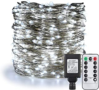 ER CHEN Dimmable LED String Lights Plug in with Remote, 170Ft 500LEDs Silver Coated Copper Wire Fairy Lights 8 Flashing Modes with Timer for Bedroom, Corridor, Patio, Garden, Yard-Cool White