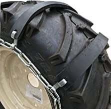 TireChain.com 31 15.5 15, 31x15.5x15 Rubber Tractor Tire Chains, Set of 2