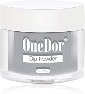 OneDor Nail Dip Dipping Powder – Acrylic Color Pigment Powders Pro Collection System, 1 Oz. (20 - Gray)