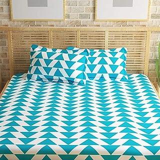 Story at Home Flat Double Bedding Set, Aqua, 225 x 235 cm, CN1403, 3 Pieces
