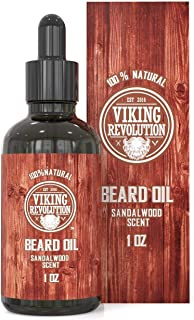 Beard Oil Conditioner - All Natural Sandalwood Scent with Organic Argan & Jojoba Oils - Softens & Strengthens Beards and M...