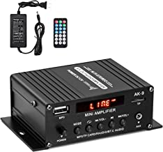 Facmogu AK9 Bluetooth Power Amplifier, 150W+150W Digital Power Audio Amplifier with 12V 3A Power Supply, Home Audio Player Amp Speaker with Remote Control