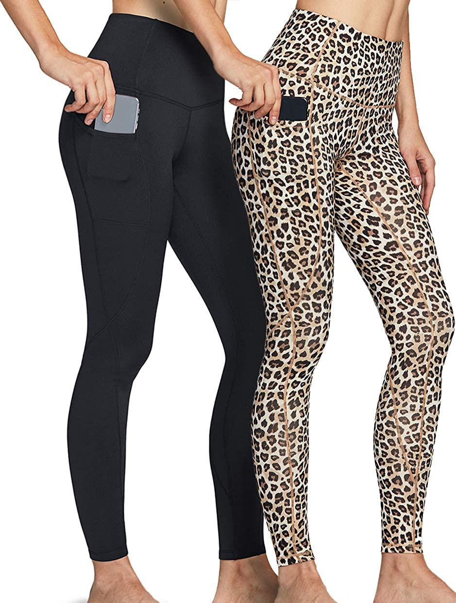 ATHLIO Mail order cheap Max 63% OFF 2 Pack Women's Thermal Yoga High Warm Fleece Waist Pants