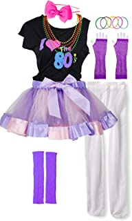 I Love 80s Pop Party Rock Star Child Girl's Costume Accessories Fancy Outfits