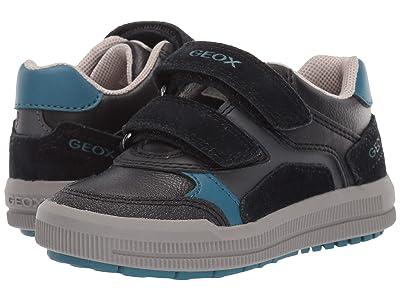 Geox Kids Jr Arzach 17 (Toddler) (Black/Blue) Boys Shoes