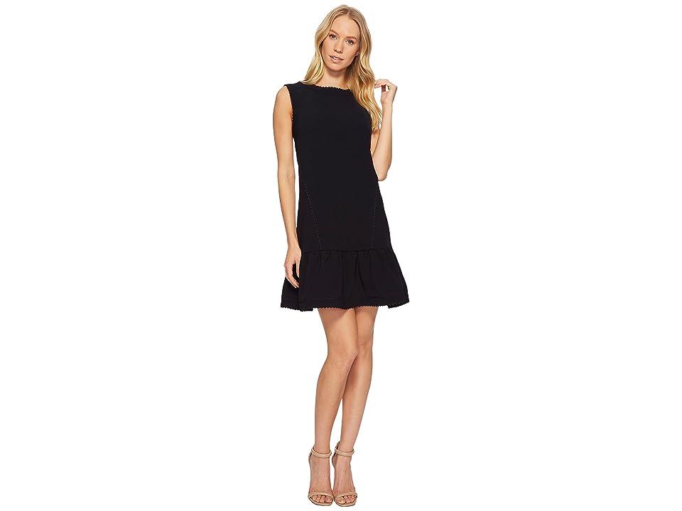 Ted Baker Mandii A-Line Shift Ruffle Hem Dress (Dark Blue) Women