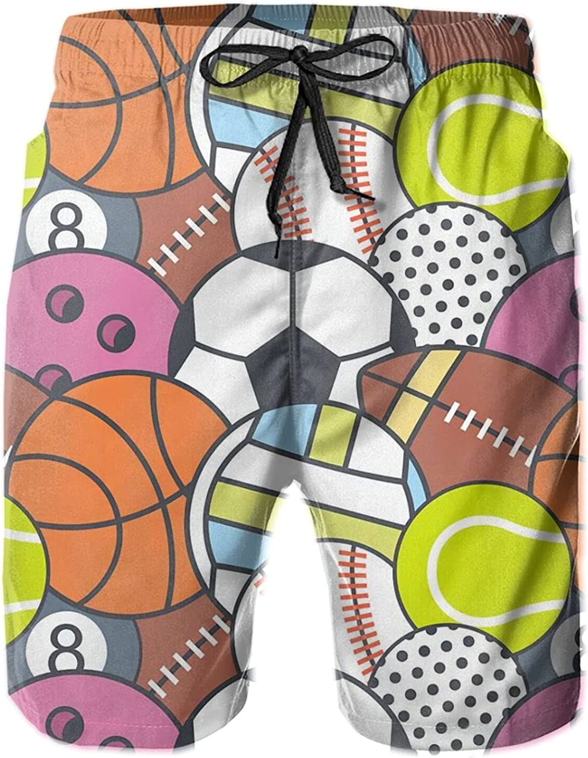 Men's Limited time cheap sale Year-end gift 100% Polyester Ball Games Swimsuit Fashion Beachwear 3